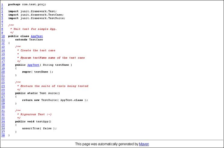 Maven Surefire Report Plugin - Source Code Cross Reference